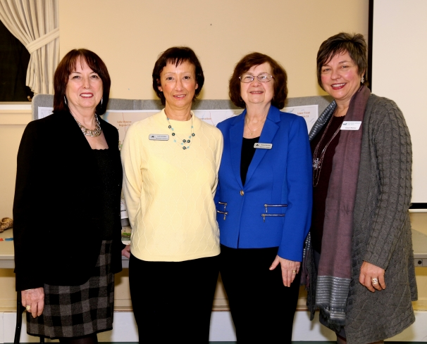 Executive Director of the Oak Ridges Moraine Land Trust, Susan Walmer, with Issues and Advocacy Committee Members