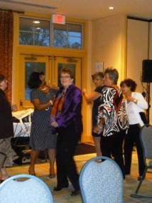Dancing to fortysomething at the May Banquet