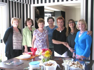 Image of Executive Members at the CFUW Executive June Pot Luck Dinner