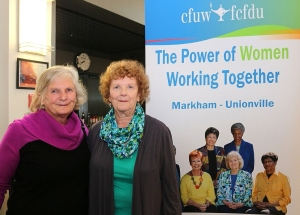 April, 2017 - CFUW Members at Markham Little Theatre Charity Event
