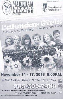 Calendar Girl_Markham Theatre 2018