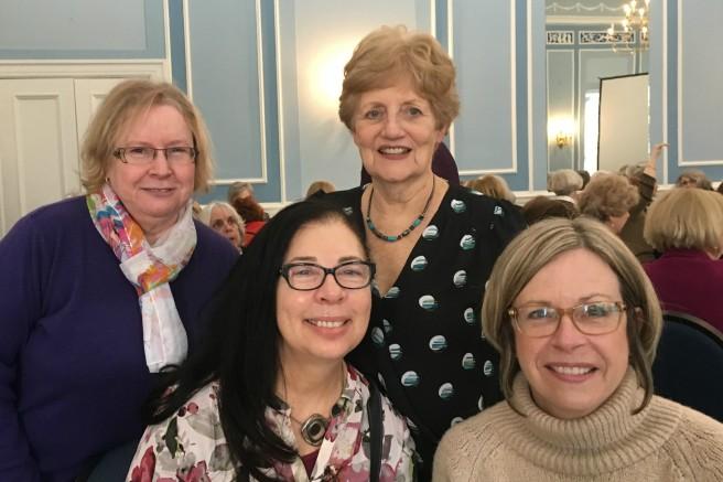 International Women's Day 2019 at U of T Faculty Club. Judith P., Diane R.,Dianne M., Kathy M.