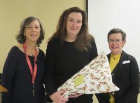 Rhonda, Lisa, Moira with thank you flowers